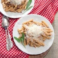 Penne with Creamy Guanciale Sauce