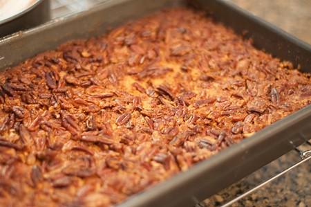 Baked Pumpkin Pecan Crunch Cake
