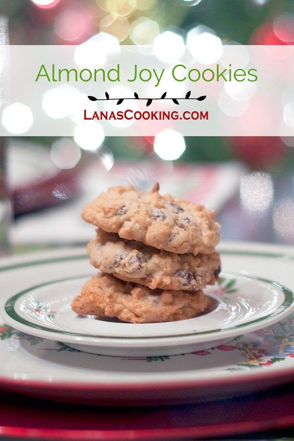 Almond Joy Cookies from @NevrEnoughThyme https://www.lanascooking.com/almond-joy-cookies/