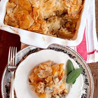 Chicken, Leek, and Mushroom Pie