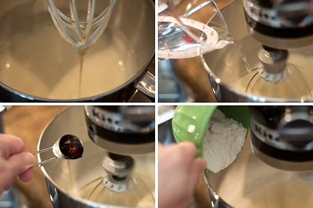 Mixing batter for Raspberry Filled Jelly Roll