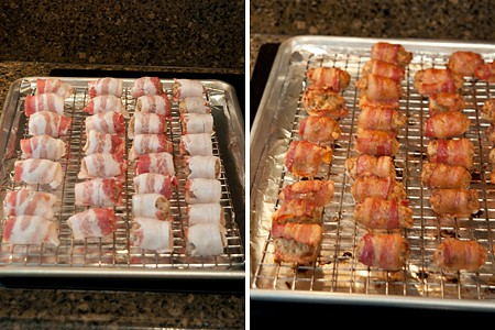 Bacon Wrapped Sausage Balls ready for the oven