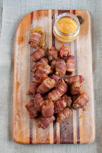 Bacon Wrapped Sausage Balls