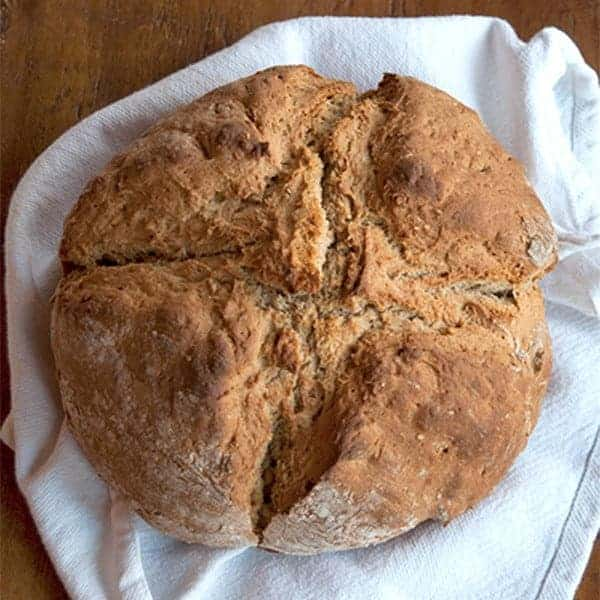 Brown Irish Soda Bread - Soda bread is the traditional bread of Ireland and is still made daily in homes throughout the country. From @NevrEnoughThyme http://www.lanascooking.com/brown-irish-soda-bread