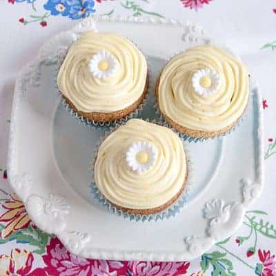 Cornmeal Cupcakes with Cream Cheese Frosting