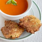 These crispy Cornmeal Scallion Fritters are the perfect accompaniment to soups and stews and are a great side with fresh summer vegetables. https://www.lanascooking.com/cornmeal-scallion-fritters/