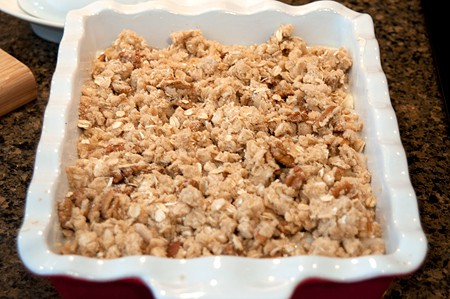 Add streusel topping to Banana Bread Cobbler