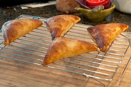 Bake Easy Peach Turnovers until deeply golden brown