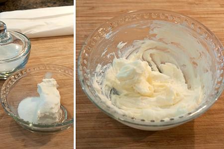 Cream cheese mixture for peach turnovers