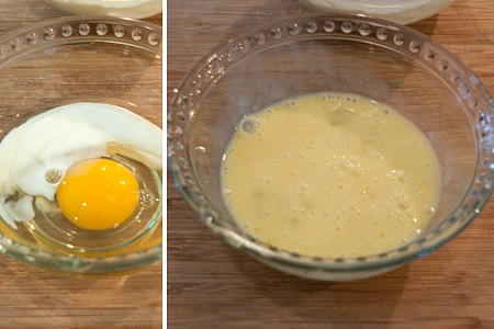 Egg wash for peach turnovers