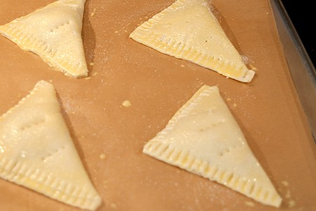 Easy Peach Turnovers ready for baking
