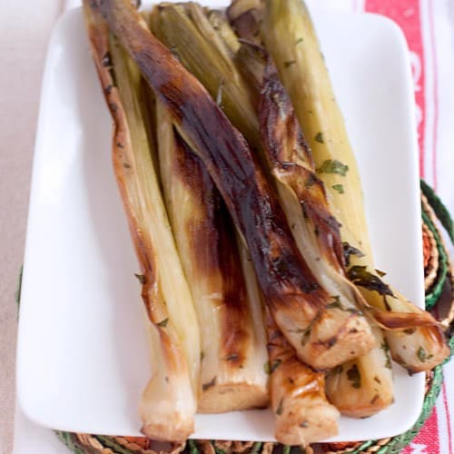 Roasted Leeks from Never Enough Thyme #leeks #vegetables #sidedishes #Irish