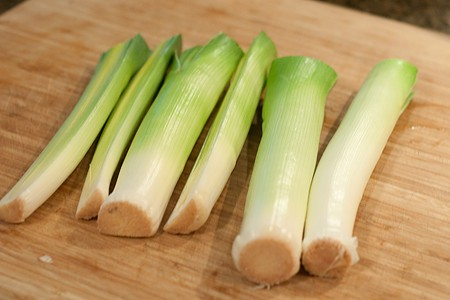 Prepping Leeks for Roasted Leeks