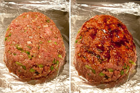Shape the loaf for BBQ Bacon Wrapped Meatloaf