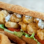 Oven Fried Shrimp Po' Boy
