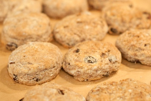 Bake Cinnamon Raisin Biscuits until golden brown
