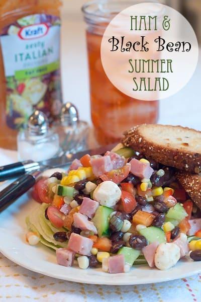 Ham and Black Bean Summer Salad