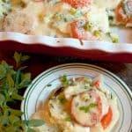 Potato, Spinach, and Tomato Gratin