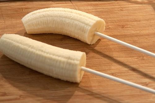 Prepping bananas for Shaggy Banana Monsters