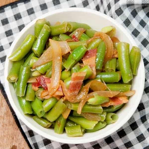 Use convenient, frozen green beans to make Green Beans with Bacon and ...
