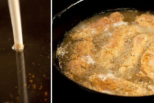 Frying Nana's Chicken Fingers