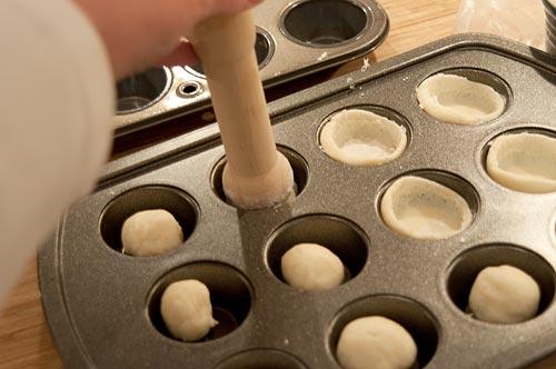 Form tart shells for Pecan Tassies