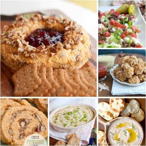 Christmas Recipe Roundup - Appetizers - A collection of the best Christmas appetizer recipes from @NevrEnoughThyme https://www.lanascooking.com/christmas-recipe-roundup-appetizers/