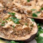 Ricotta and Herb Stuffed Eggplant