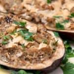 Ricotta and Herb Stuffed Eggplant