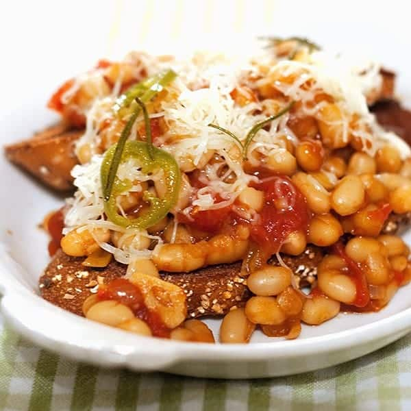 recipe: beans on toast with cheese [15]
