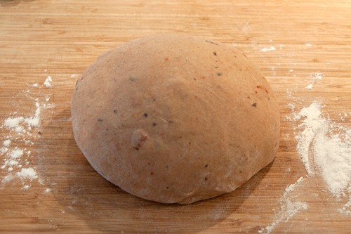 Kneading complete for Olive and Tomato Whole Wheat Focaccia