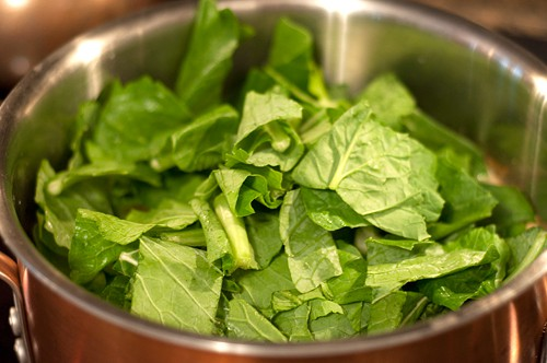 Add turnip greens to Creole Black Eyed Pea Soup