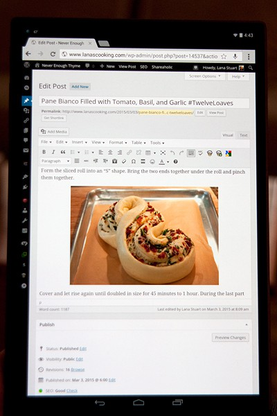 Creating a blog post with the Dell Venue 8 Tablet