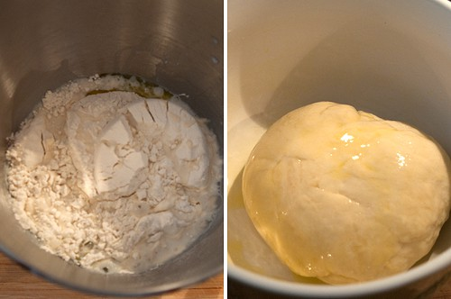 Dough for Pane Bianco Filled with Tomatoes, Basil, and Garlic