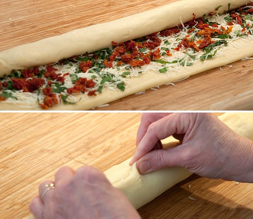 Roll up and seal the Pane Bianco