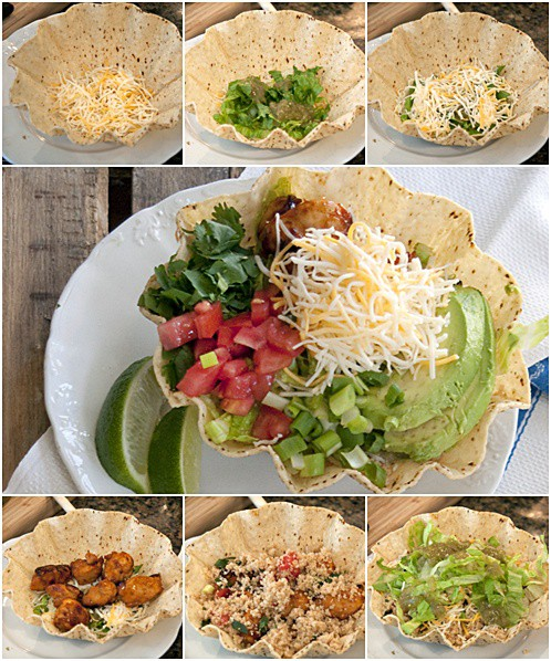 Creating layers for Layered Mexican Chicken Salad