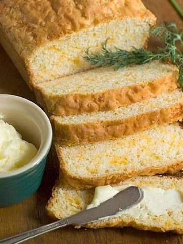 I'm all for taking some help in the kitchen, like the boxed baking mix used in this recipe for easy Cheddar Dill Quick Bread. From @NevrEnoughThyme https://www.lanascooking.com/dill-cheese-quick-bread/