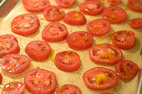 Ready to bake Oven Roasted Tomatoes in Oil