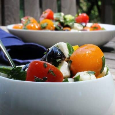 Tomato, Feta, and Olive Salad