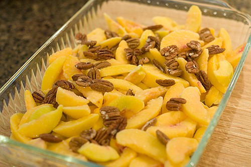 Peach and Pecan Mixture for Hot Curried Georgia Peaches