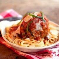 Jumbo Meatballs and Spaghetti