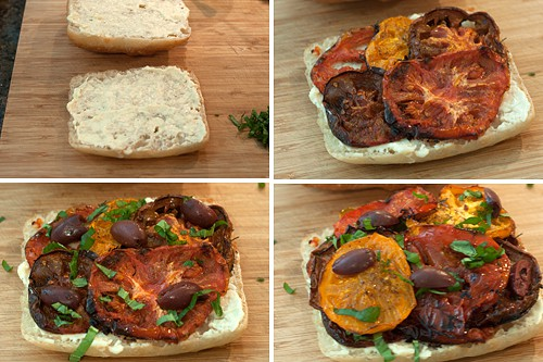 Assemble Roasted Tomato Sandwiches