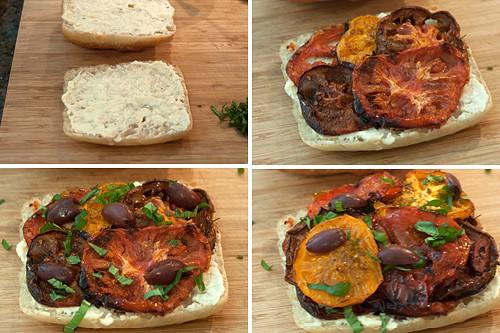 Assemble Roasted Tomato Sandwiches