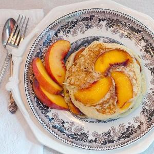 Peach-Pecan Pancakes