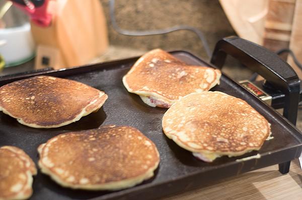 Flip Peach-Pecan Pancakes
