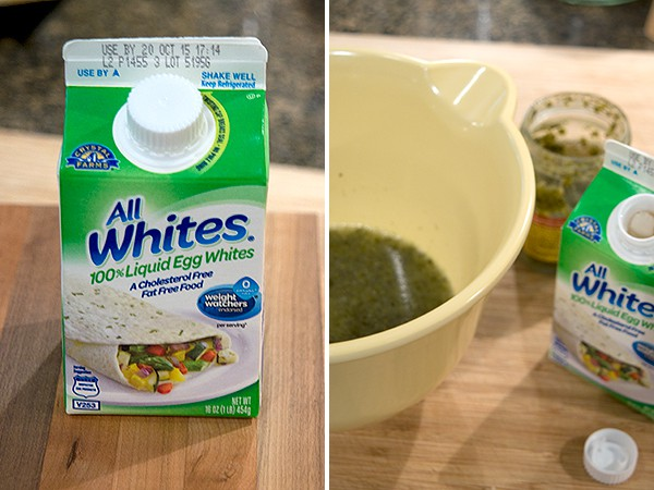 Combine AllWhites and pesto for Spinach and Feta Wraps
