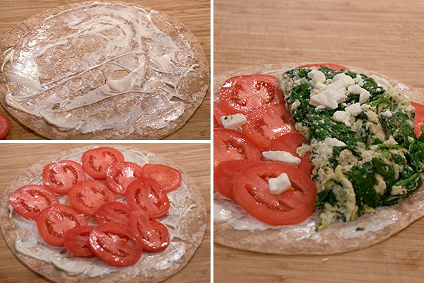 Add Feta for Spinach and Feta Wraps