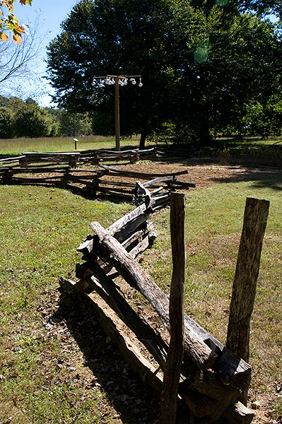 New Echota Cherokee Capital Farm Dwelling Split Rail Fence