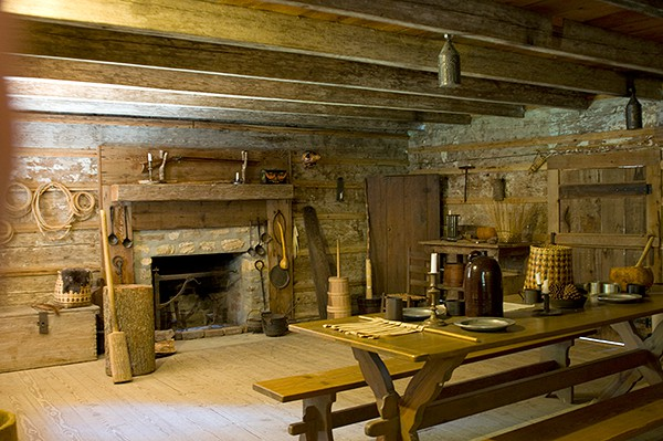 New Echota Cherokee Capital Farm Dwelling Interior