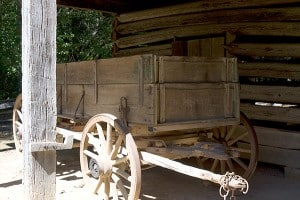 Old Wagon at Farm Dwelling New Echota